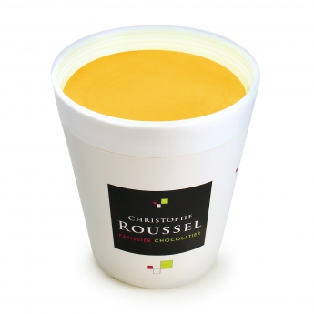 Passionfruit and mango sorbet